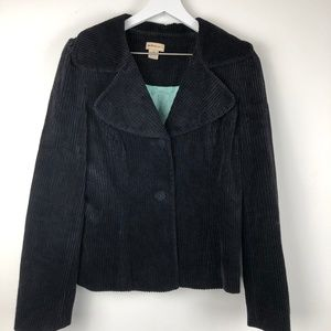 Anthro elevenses corduroy jacket